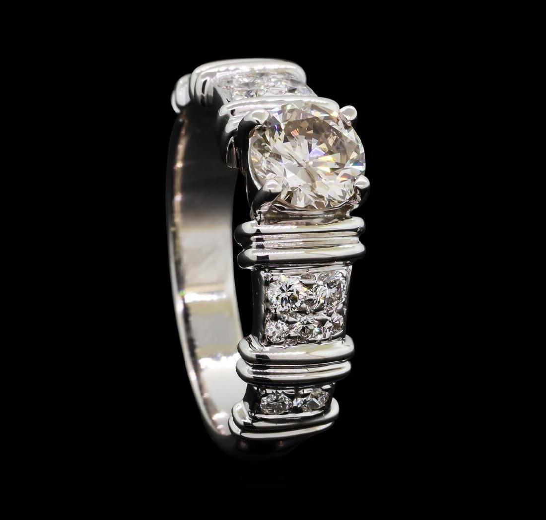 1.02 ctw Diamond Ring - 18KT Yellow With Rhodium - 4