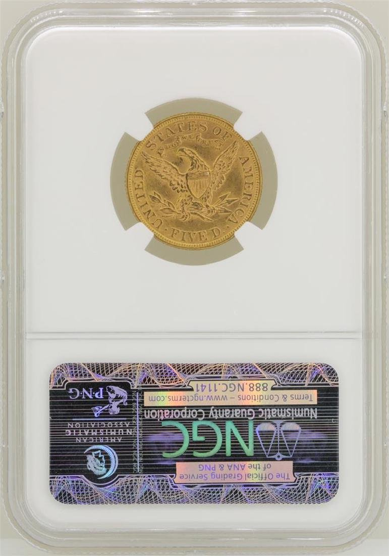 1893 $5 Liberty Head Half Eagle Gold Coin NGC MS62 - 2