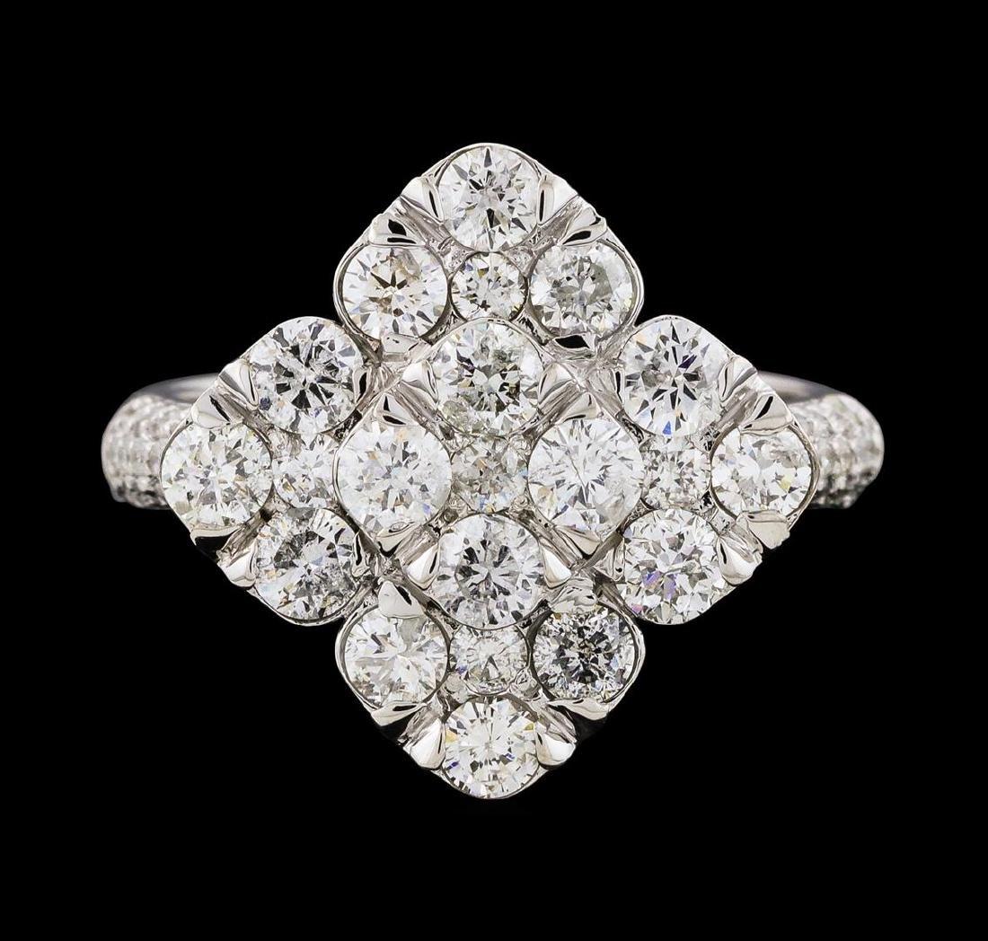 2.12 ctw Diamond Ring - 14KT White Gold - 2