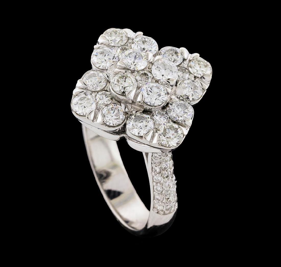 2.12 ctw Diamond Ring - 14KT White Gold - 4