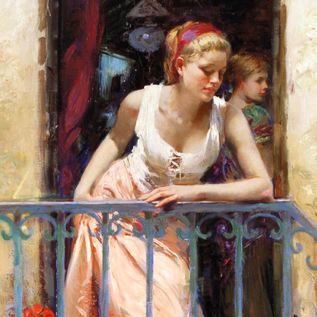 At the Balcony by Pino (1939-2010) - 2