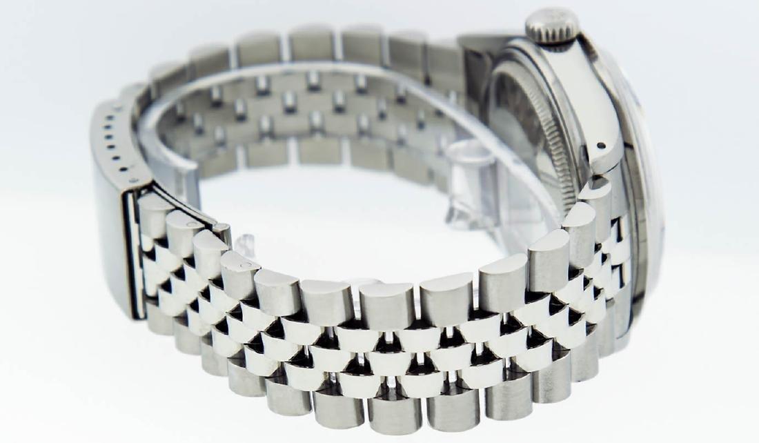 Rolex Mens Stainless Steel Black String Diamond 36MM - 7