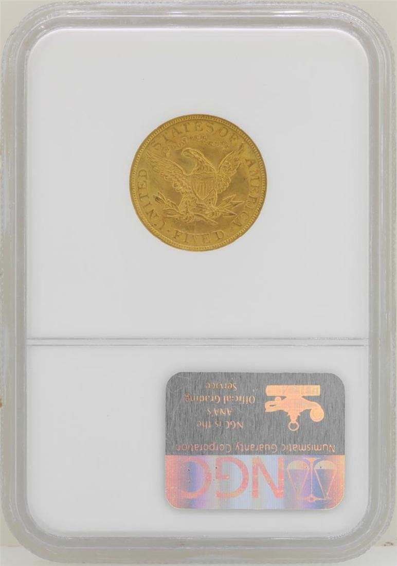 1904 $5 Liberty Head Half Eagle Gold Coin NGC MS62 - 2