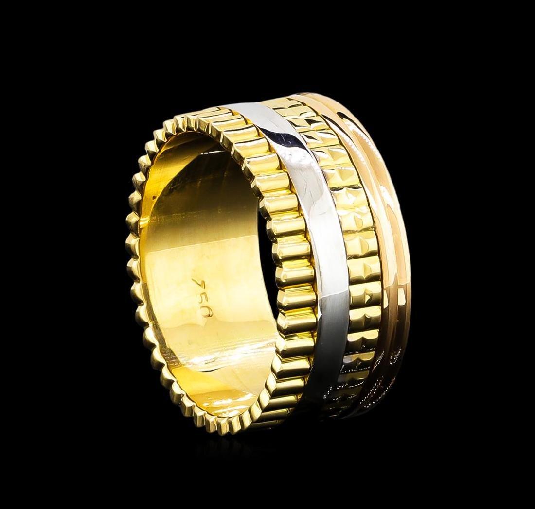 18KT Tri-Tone Gold Ring - 2