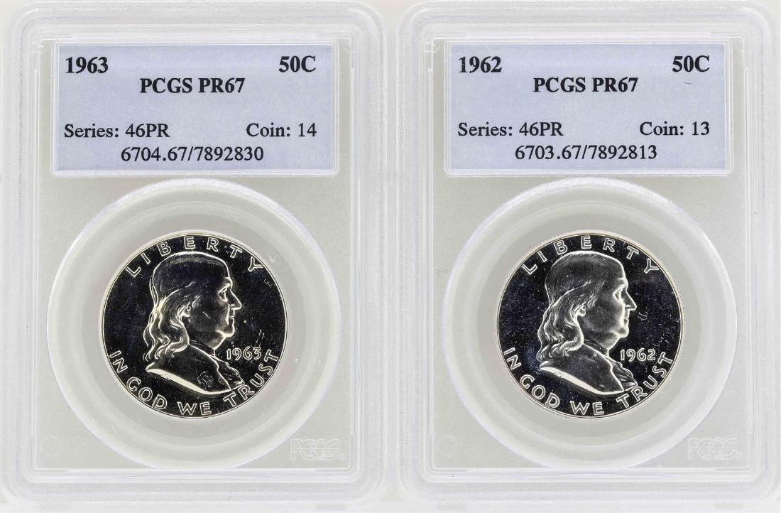 Lot of 1962-1963 Franklin Half Dollar Proof Coins PCGS