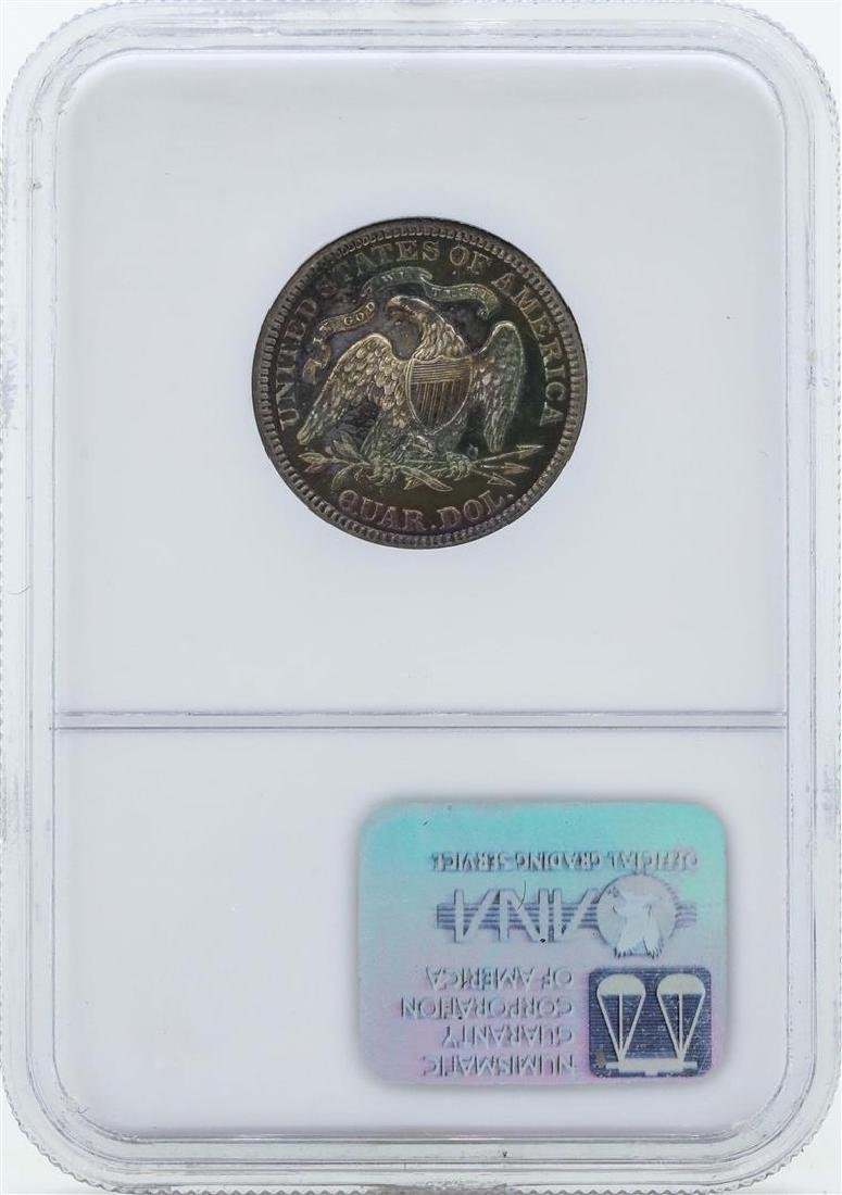 1885 Seated Liberty Proof Quarter Coin NGC PF64 - 2