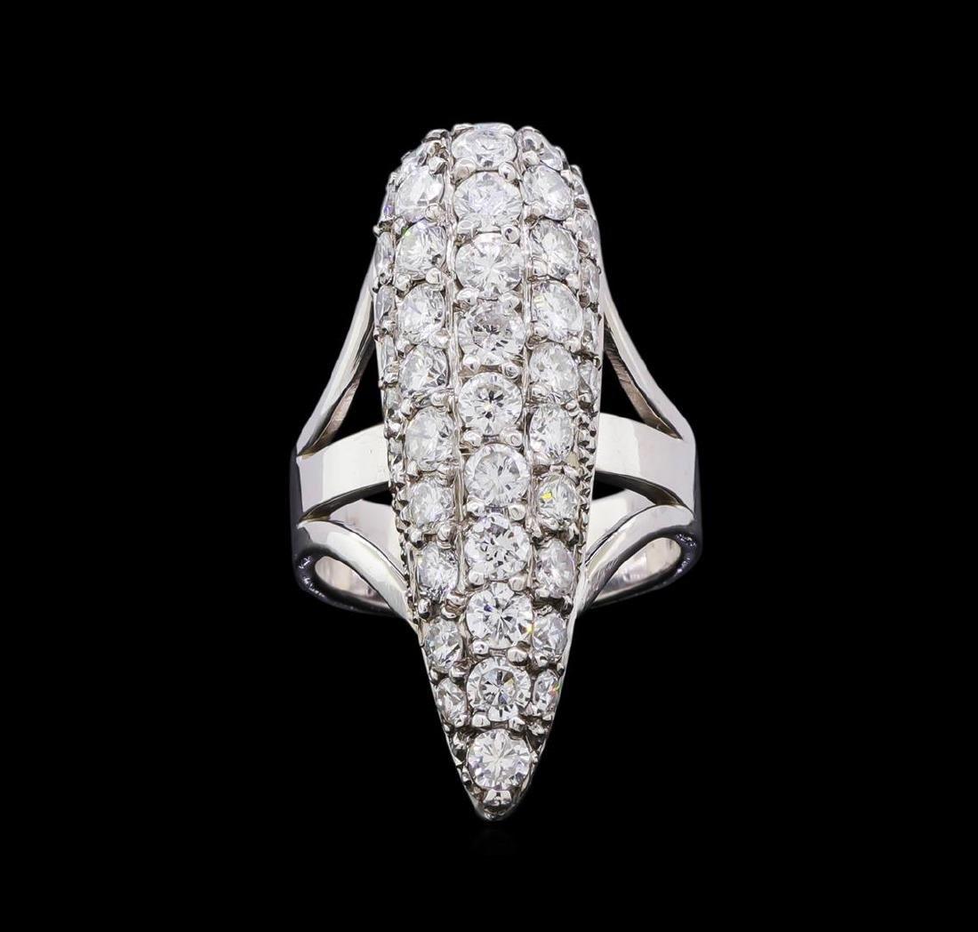 2.73 ctw Diamond Ring - 14KT White Gold - 2
