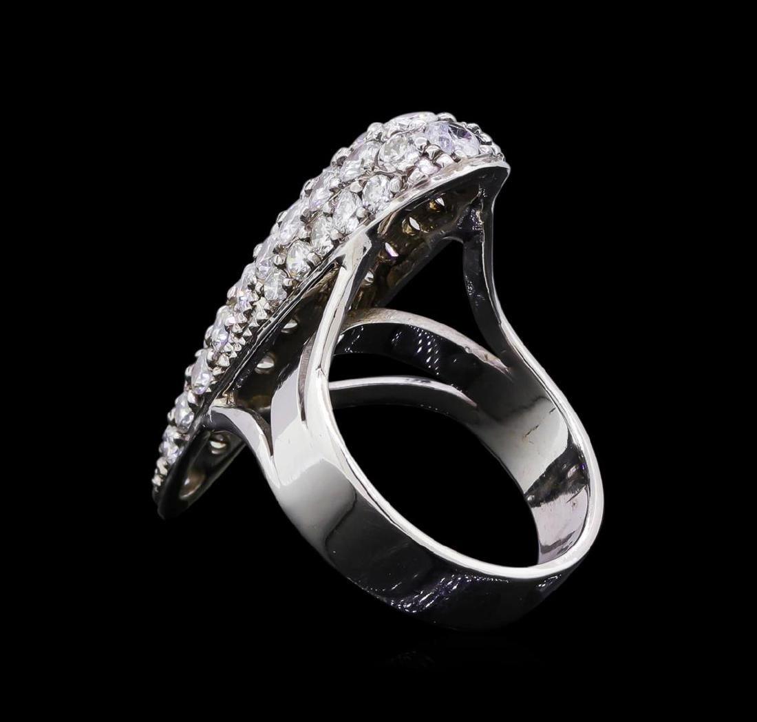 2.73 ctw Diamond Ring - 14KT White Gold - 3