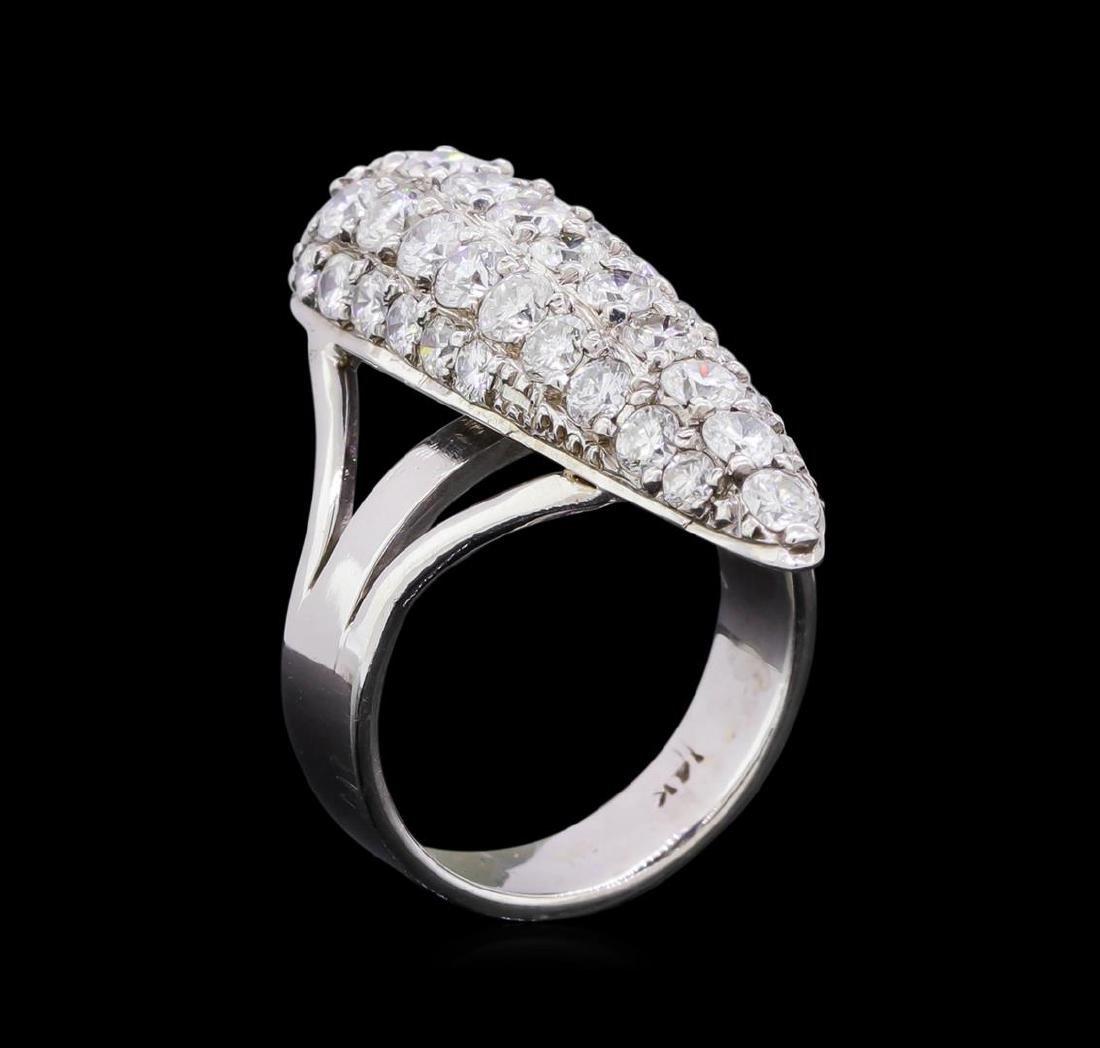 2.73 ctw Diamond Ring - 14KT White Gold - 4