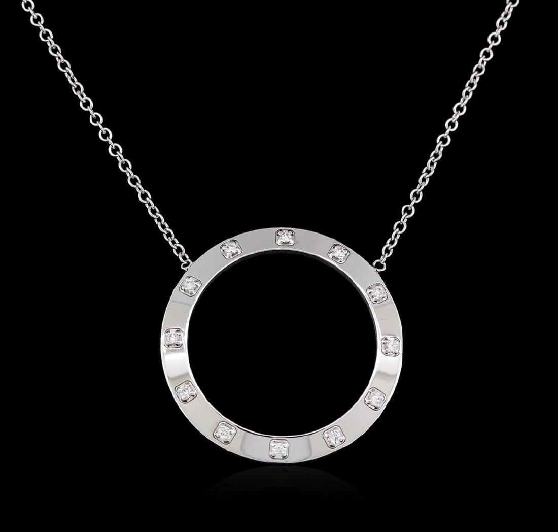 0.50 ctw Diamond Necklace - 14KT White Gold - 2