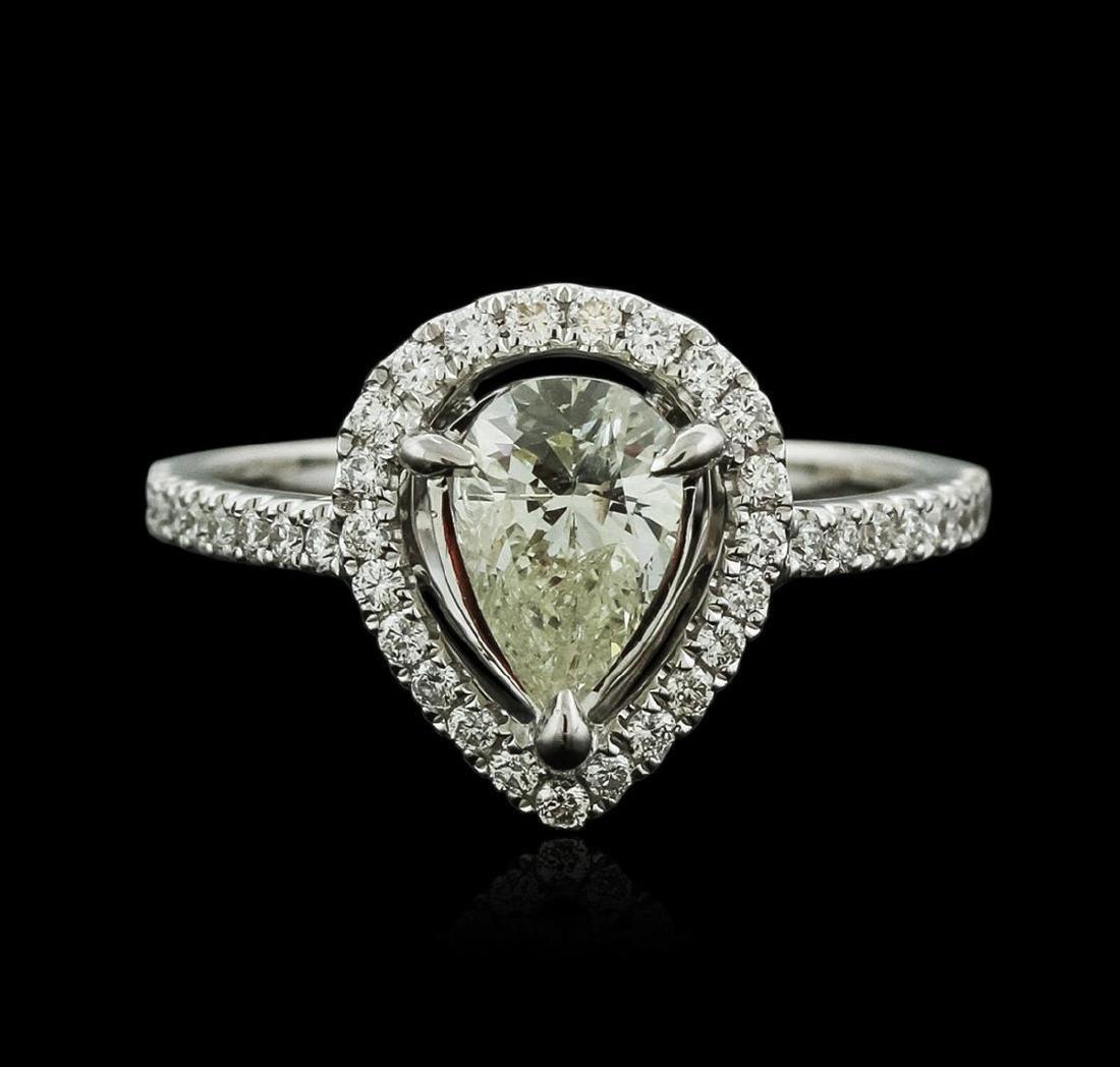 18KT White Gold 1.06 ctw Diamond Ring - 2