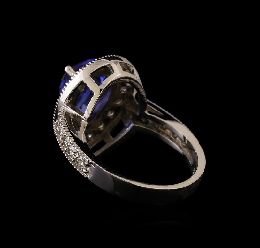 14KT White Gold 3.04 ctw Tanzanite and Diamond Ring - 3