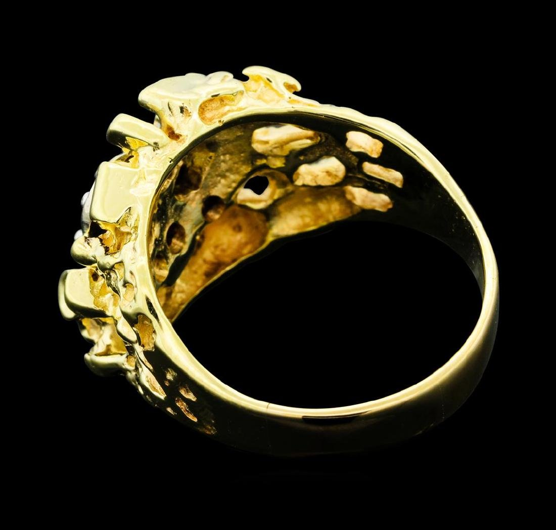 0.25 ctw Diamond Nature Ring - 14KT Yellow Gold - 3