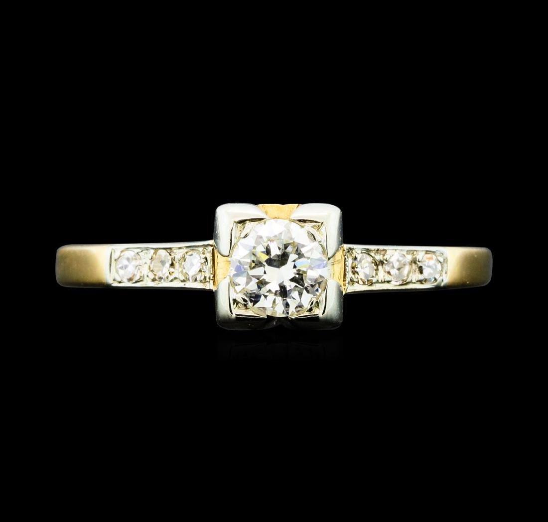 0.50 ctw Diamond Ring - 14KT Yellow Gold - 2
