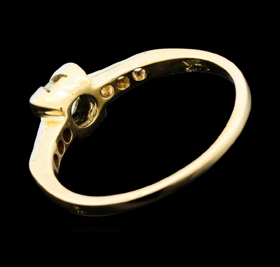 0.50 ctw Diamond Ring - 14KT Yellow Gold - 3
