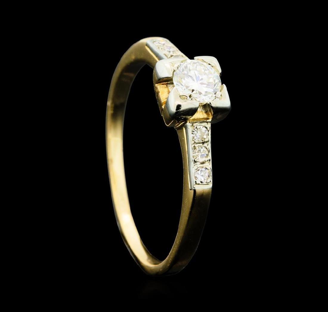 0.50 ctw Diamond Ring - 14KT Yellow Gold - 4
