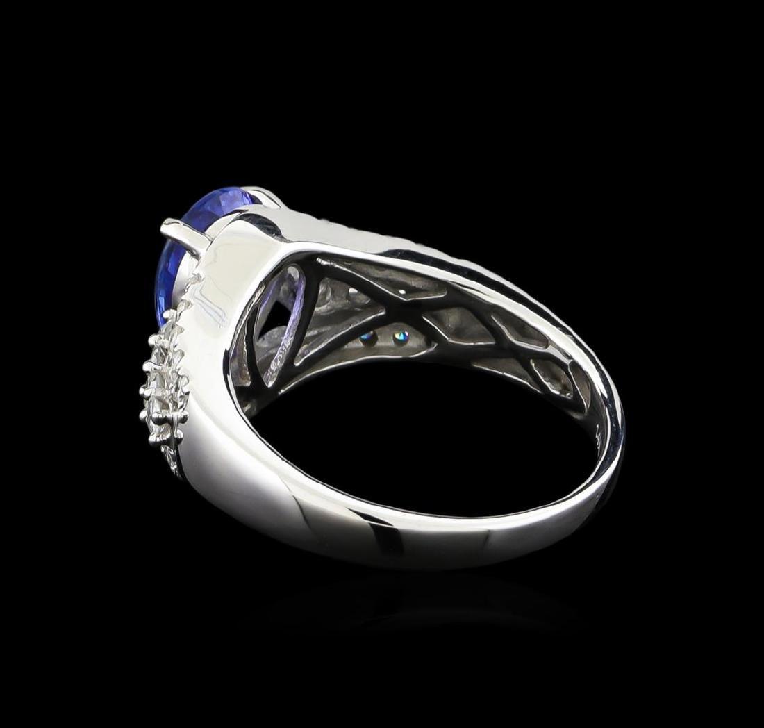 14KT White Gold 1.88 ctw Tanzanite and Diamond Ring - 3