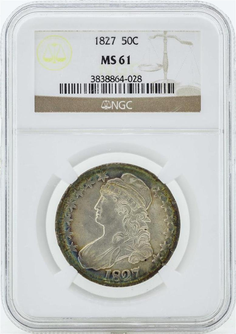 1827 Capped Bust Half Dollar Coin NGC MS61 - Great