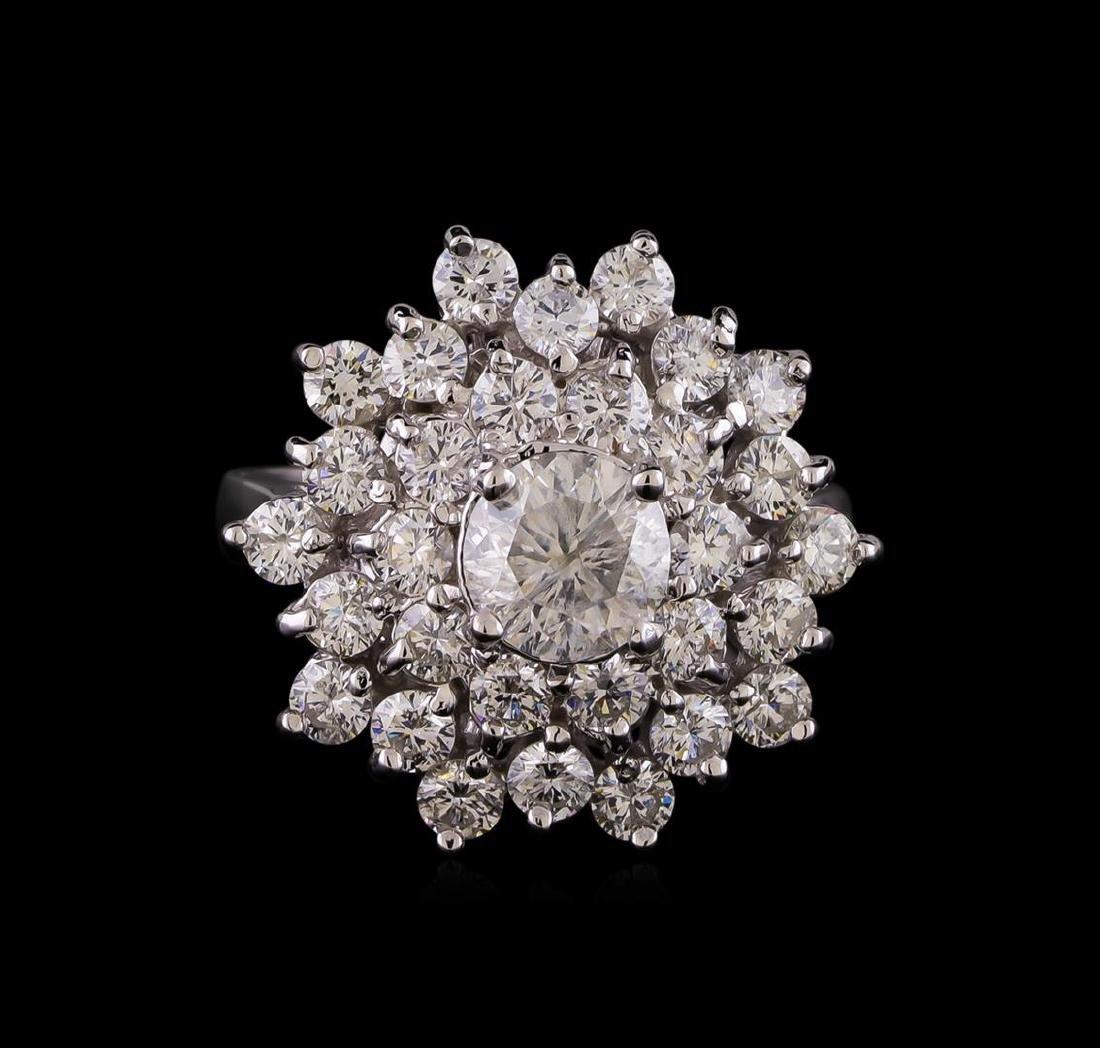 14KT White Gold 2.64 ctw Diamond Ring - 2