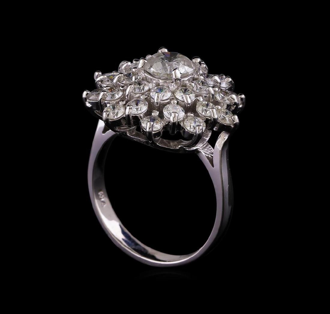14KT White Gold 2.64 ctw Diamond Ring - 4