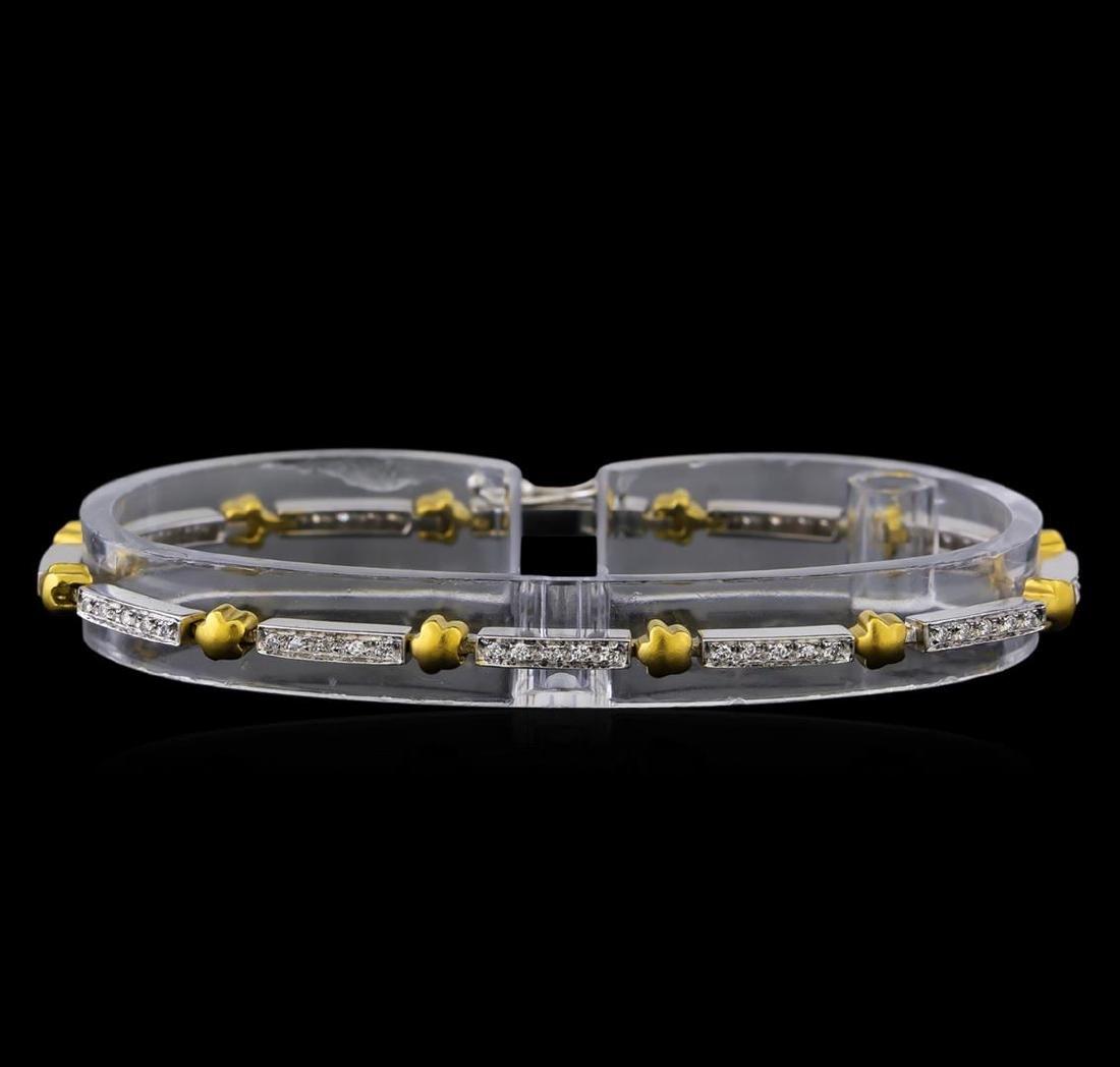 0.56 ctw Diamond Bracelet - 18KT White and Yellow Gold
