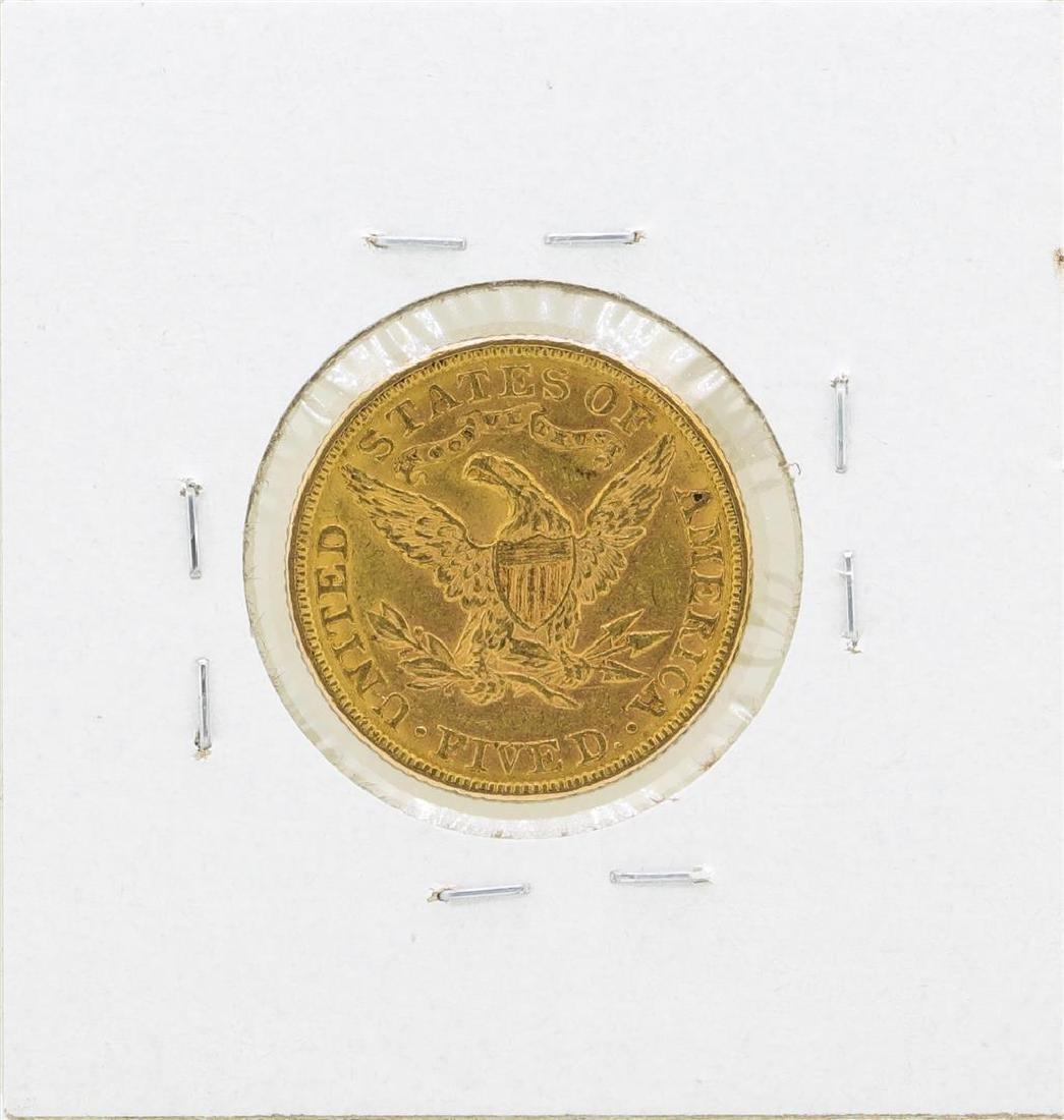 1886 $5 Liberty Head Half Eagle Gold Coin - 2
