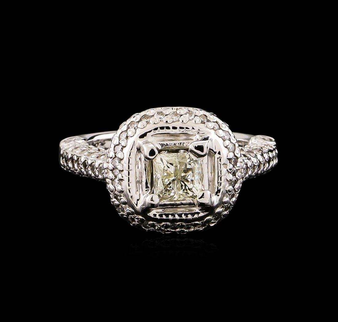 14KT White Gold 1.78 ctw Diamond Ring - 2