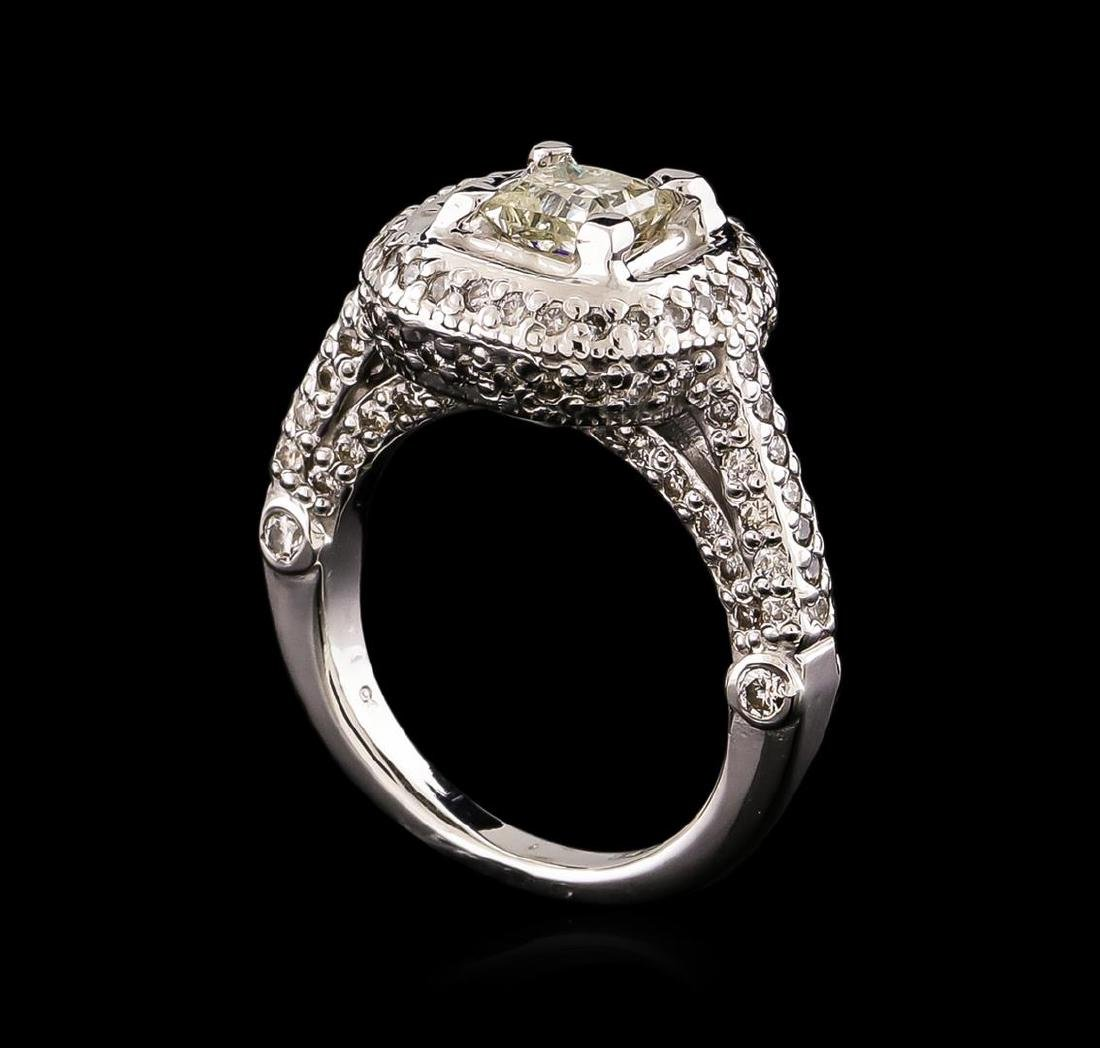 14KT White Gold 1.78 ctw Diamond Ring - 4