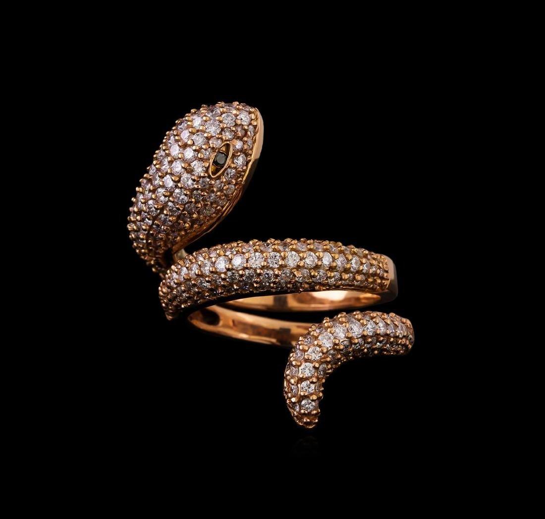 14KT Rose Gold 1.23 ctw Diamond Ring - 2