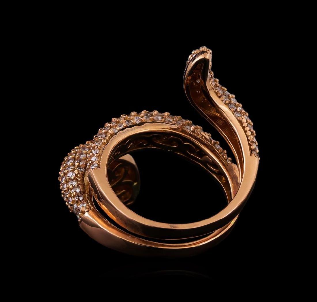 14KT Rose Gold 1.23 ctw Diamond Ring - 3