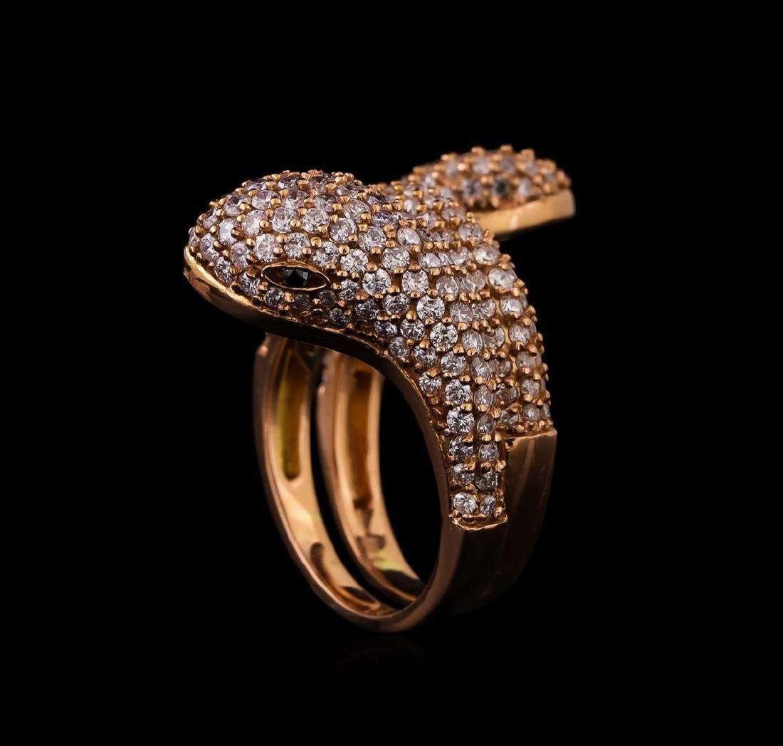 14KT Rose Gold 1.23 ctw Diamond Ring - 4