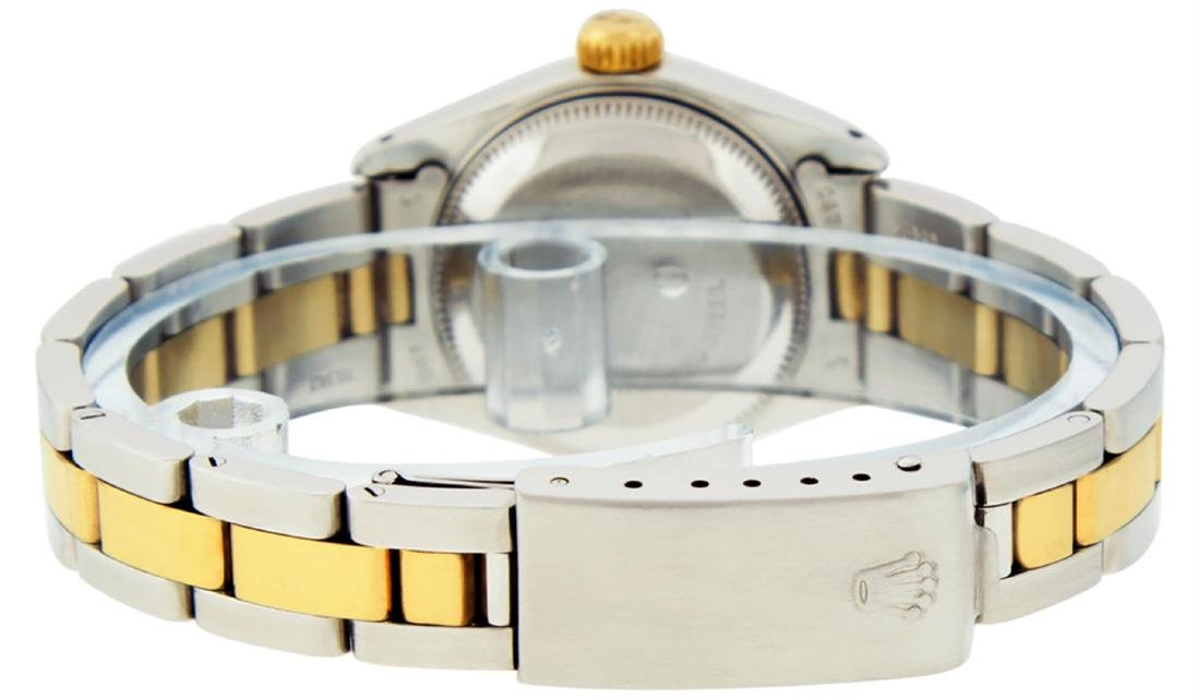Rolex Ladies 2 Tone 14K Black Diamond 26MM Datejust - 8