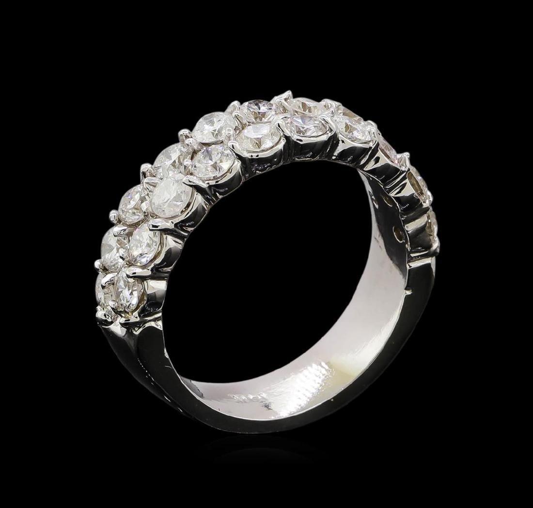 14KT White Gold 1.76 ctw Diamond Ring - 4