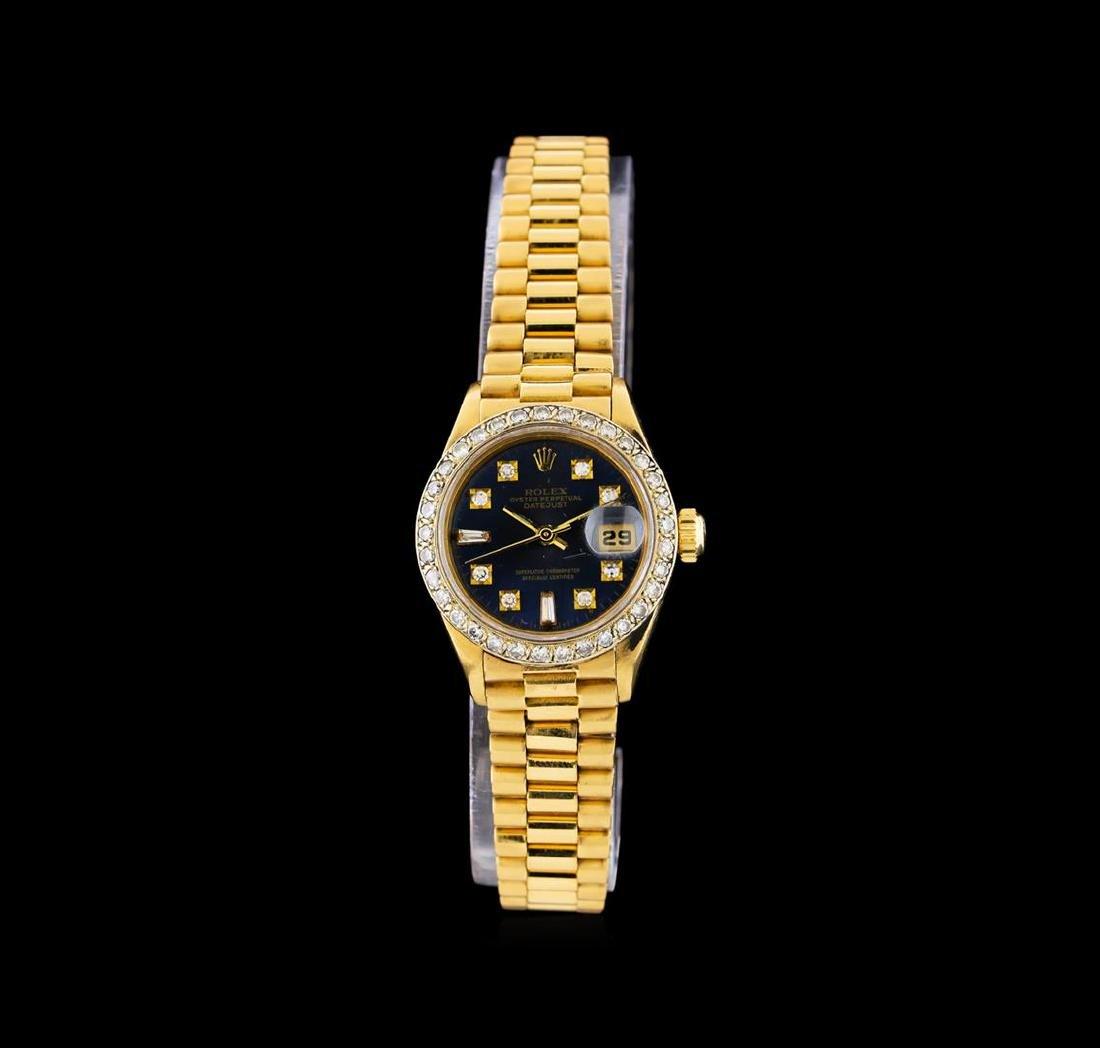 Rolex 18KT Gold Diamond DateJust Ladies Watch