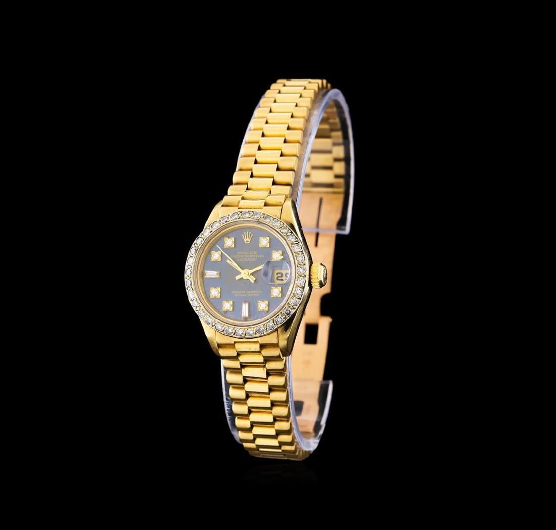 Rolex 18KT Gold Diamond DateJust Ladies Watch - 2