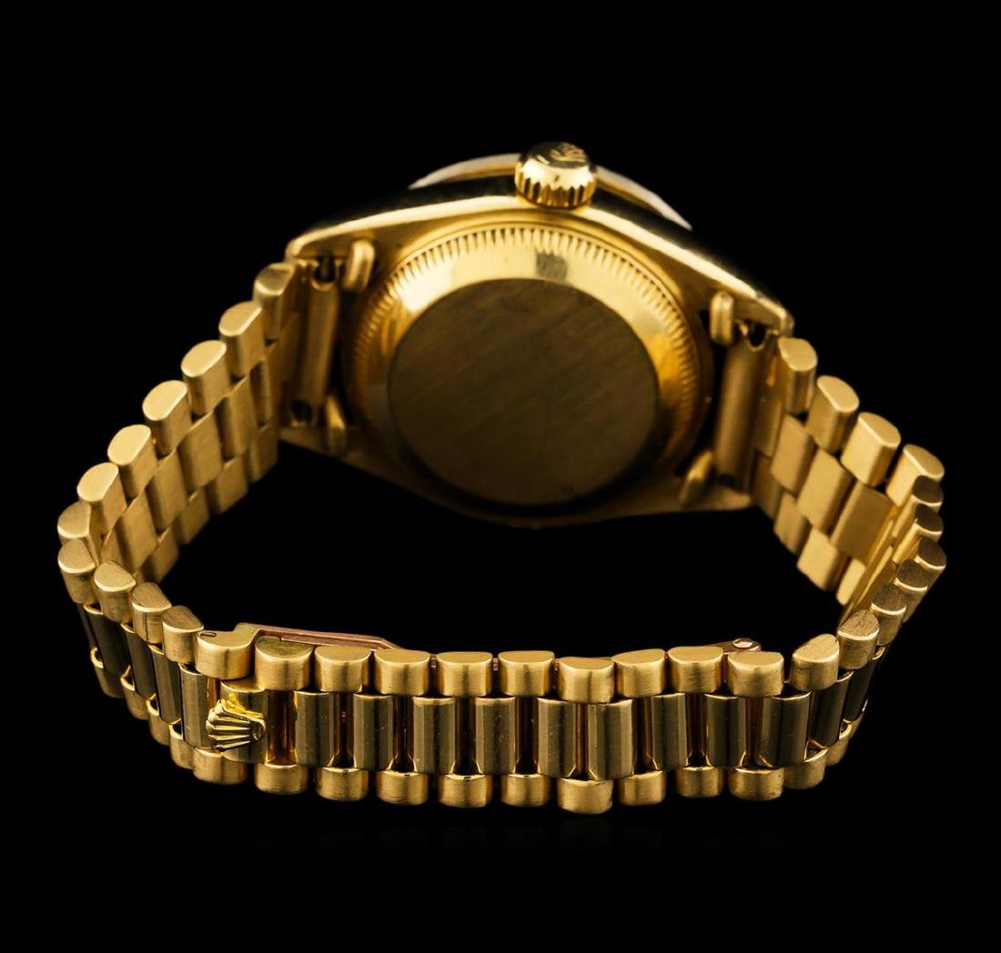 Rolex 18KT Gold Diamond DateJust Ladies Watch - 3