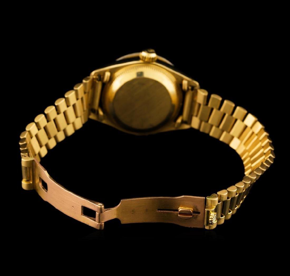 Rolex 18KT Gold Diamond DateJust Ladies Watch - 4