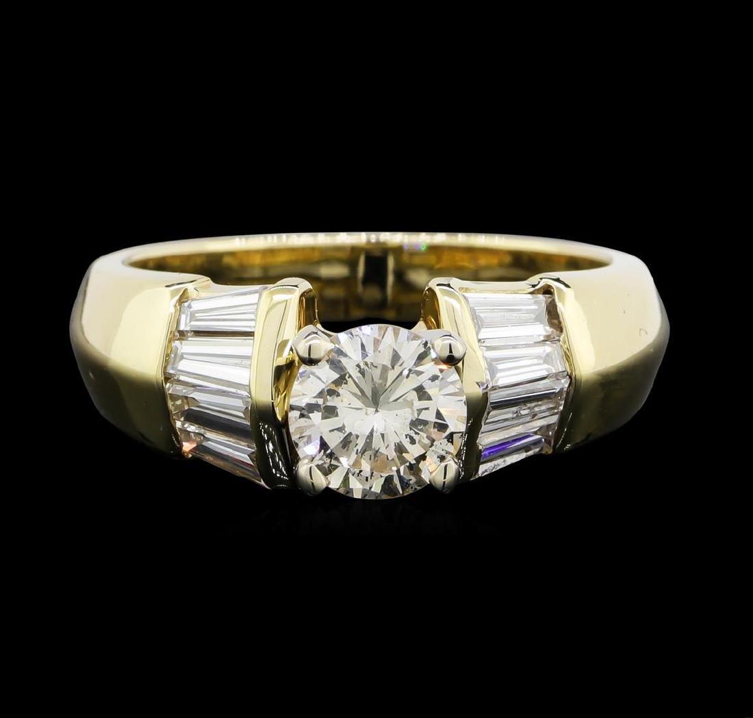 1.22 ctw Diamond Ring - 14KT Yellow Gold - 2