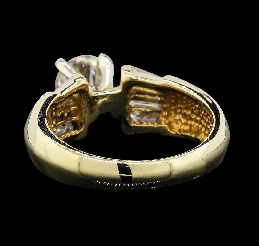 1.22 ctw Diamond Ring - 14KT Yellow Gold - 3