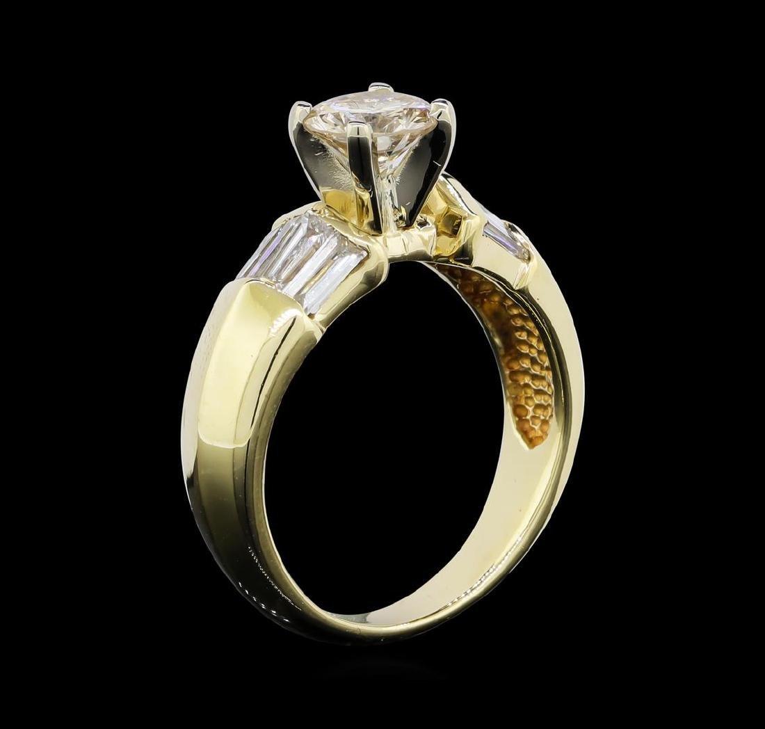 1.22 ctw Diamond Ring - 14KT Yellow Gold - 4