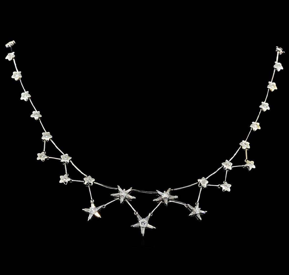 3.00 ctw Diamond Necklace - 18KT White Gold - 2