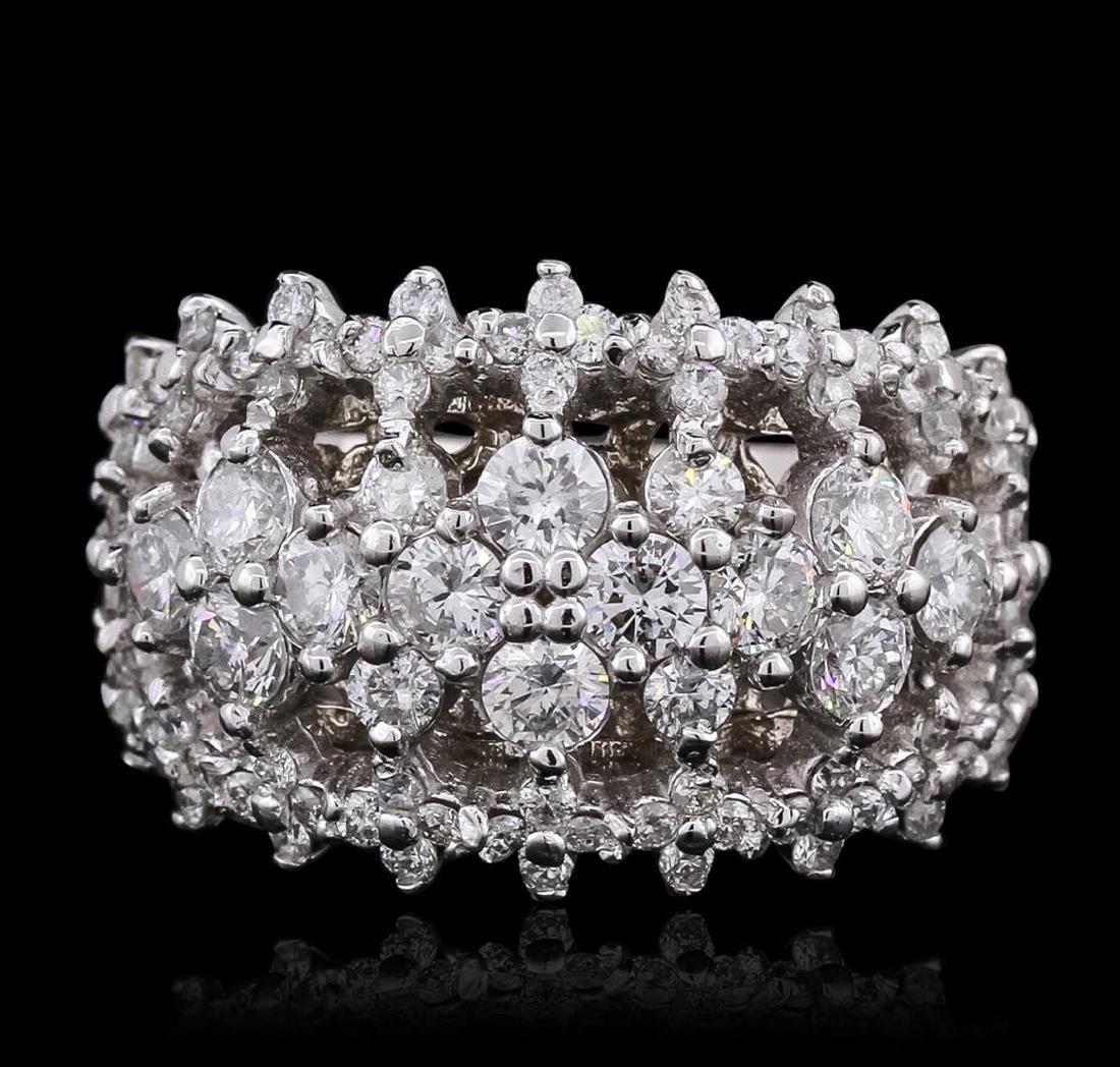14KT White Gold 2.67 ctw Diamond Ring - 2