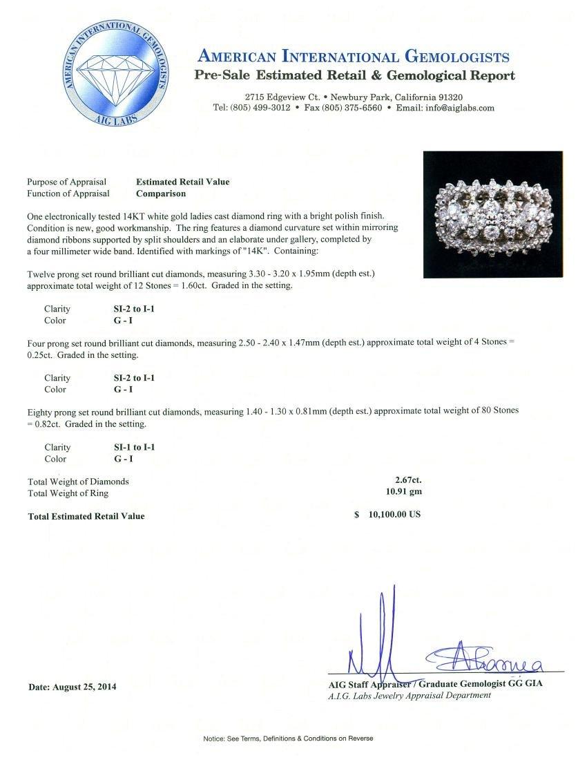 14KT White Gold 2.67 ctw Diamond Ring - 3