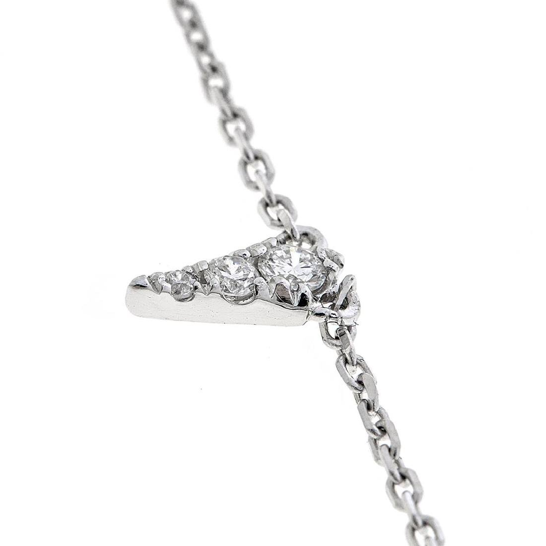 0.31 ctw Diamond Necklace - 18KT White Gold