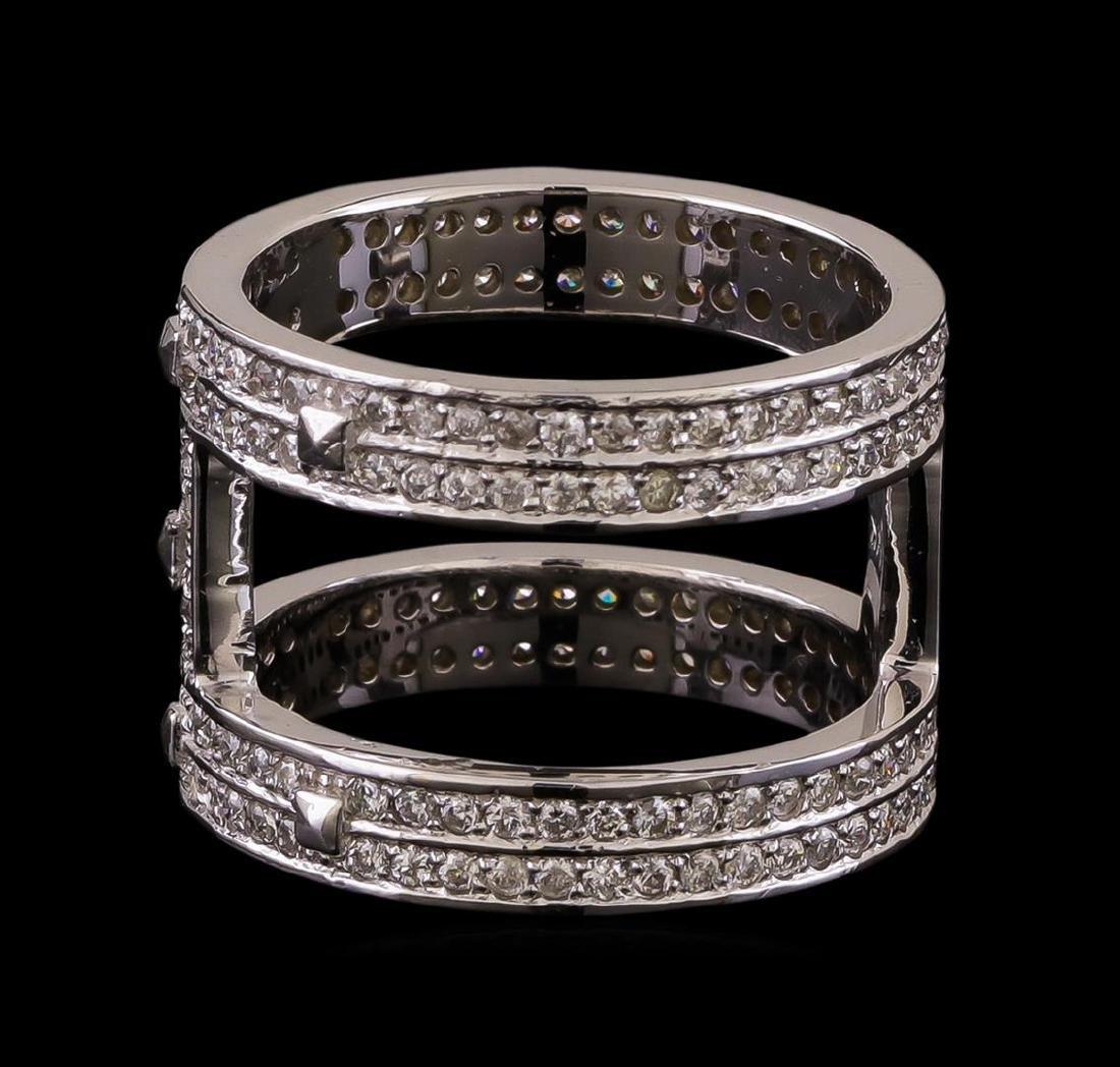 14KT White Gold 0.42 ctw Diamond Ring - 2