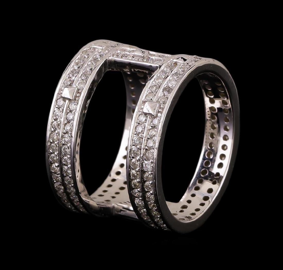14KT White Gold 0.42 ctw Diamond Ring - 3