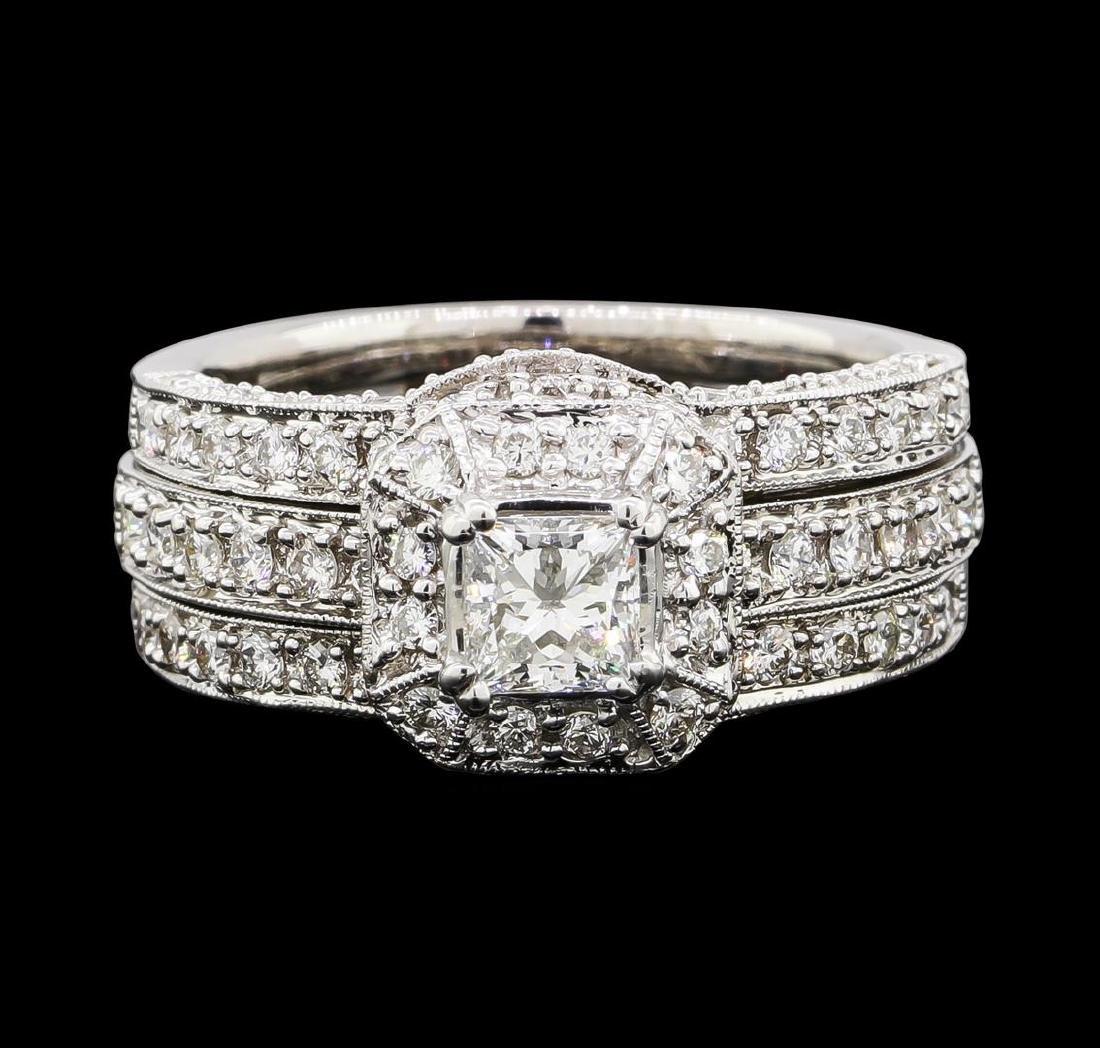 1.53 ctw Diamond Ring - 18KT White Gold - 2