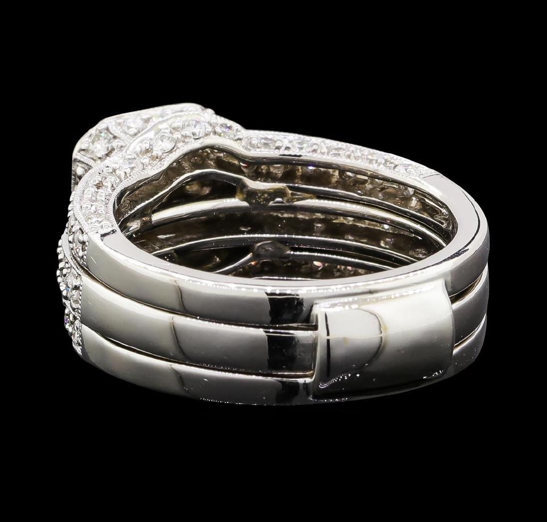 1.53 ctw Diamond Ring - 18KT White Gold - 3