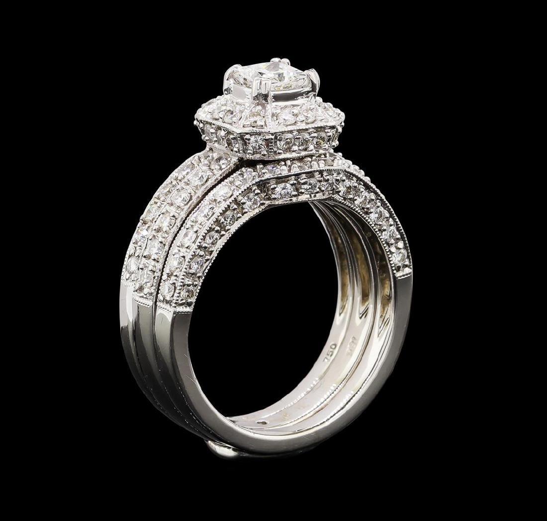 1.53 ctw Diamond Ring - 18KT White Gold - 4