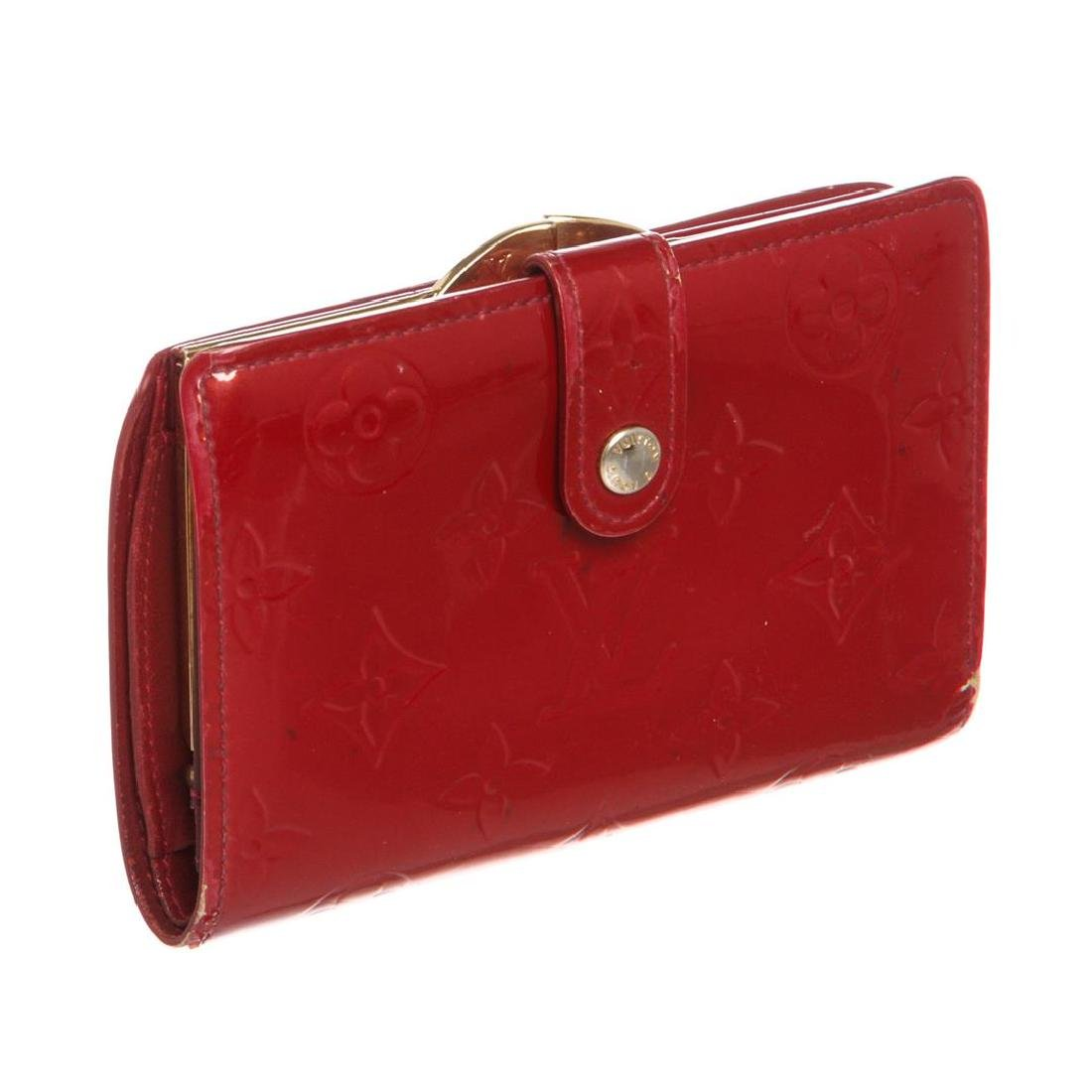 Louis Vuitton Red Vernis Monogram French Wallet - 2